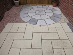 Old Priory paving and circle