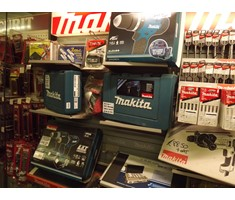 Large range of power and hand tools kept in stock